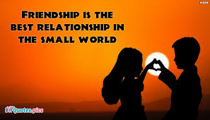 Quotes About Relationships And Friendships Adorable Friendship Is The Best Relationship In The Small World BffQuotesPics