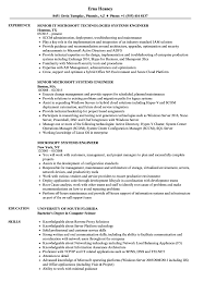 Systems Engineer Job Description Microsoft Systems Engineer Resume Samples Velvet Jobs 20