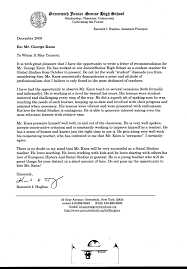 Recommendation Letter For Student Scholarship Free A