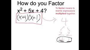 factor x 2 5x 4