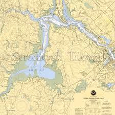 New Hampshire Kittery Great Bay Nautical Chart Decor