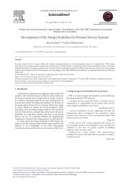 Product Service System Design Development Of The Design Guideline For Product Service