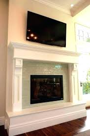 glass tile fireplace glass tile fireplace tile around fireplace