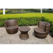3Piece Wicker Bistro Patio Set  Plascoline Outdoor FurnitureThree Piece Outdoor Furniture