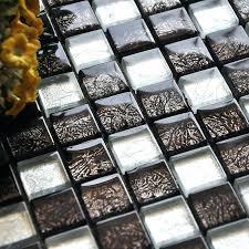 black glass mosaic tile backsplash glass mosaic tiles brown crystal tile bathroom wall tiles floor stickers