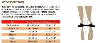 Pod Size Chart Pod K300 K700 Knee Brace Sizing Help Moto Related