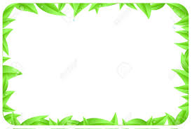 Green Border Made Of Leaves As Design Element Of Page With Space