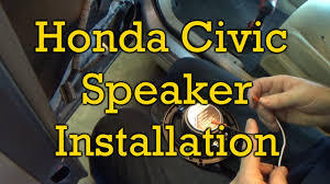 Honda Civic Speaker Size Chart Honda Civic Speaker Installation 2006 2006 2011 Similar