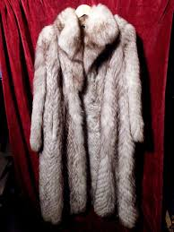 luxurious fur coat made of arctic fox by pelz exclusiv germany made