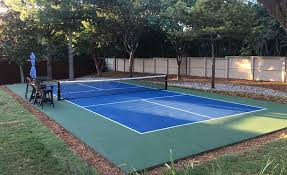 pickleball court size best pickleball court construction and services dallas fort worth dfw