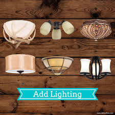 adding a light fixture to ceiling fan