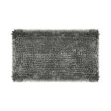 er chenille 27 in x 45 in bath mat in charcoal