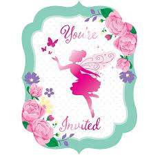Party Invites Online Floral Fairy Sparkle Party Invitations Invites