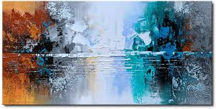 But the one thing they all have in common is the element of nature. Amazon Com Hand Painted Oil Painting On Canvas Lake Landscape Wall Art Modern Abstract Home Decor Paintings