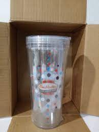 Tim hortons reusable drinkware (tim hortons) the brand also announced other coffee packaging sustainability initiatives for 2019, including testing a more environmentally friendly paper cup, testing a new strawless lid for iced coffee and rolling out wooden stir sticks. Tim Hortons Reusable Cold Cup 20oz Plastic Buffaloinabox Com