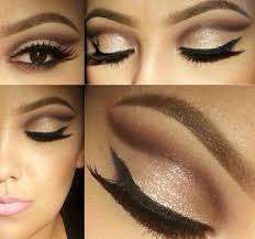 brown gold eye shadow makeup idea for a wedding this summer natural look