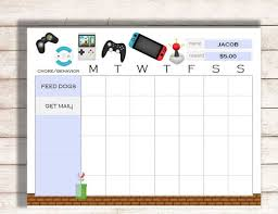 Editable Reward Chart Editable Chore Chart Editable Behavior Chart Chore Chart Printable Kids Chart Printable Editable Printable