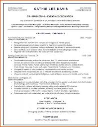 Event Planner Contract Fieldstation Co Resume For Coordinator