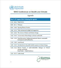 sample conference agenda template