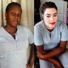 black makeup facebook transformation source facebook talented nigerian makeup artist turns woman into michael jackson photos share on facebook