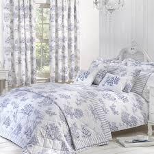 toile blue luxury jacquard duvet cover