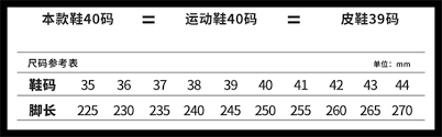 Chinese English Shoe Size Chart Thanks In Advance