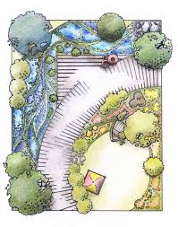Small Picture Contemporary Garden Design Drawing Attractive 2 On Throughout Ideas