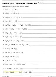 balancing chemical equations review worksheet breadandhearth 521027 balancing chemical equations worksheet answer key