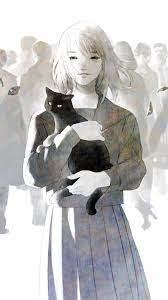 Download wallpaper 938x1668 anime, cat ...