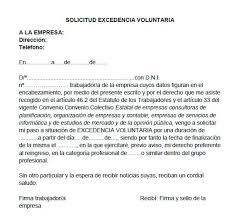 Formato De Carta De Solicitud Ejemplo De Solicitud De Excedencia Modelos De Solicitud