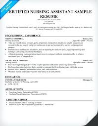 Nursing Assistant Resume Example Sample Resume Example Resume Sample ...