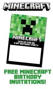 Minecraft Party Invitations Template Elim