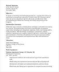 Supervisor Objective For Resume Supervisor Resume Template 100 Free Word PDF Document Downloads 1