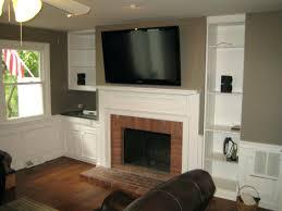smlf mount install tv above stone fireplace brick