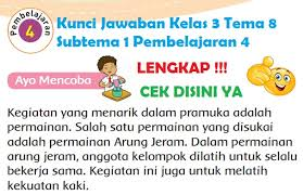 Kunci jawaban bahasa indonesia kelas 8 halaman 181. Lengkap Kunci Jawaban Kelas 3 Tema 8 Subtema 1 Pembelajaran 4 Simple News Kunci Jawaban Lengkap Terbaru