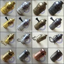 e27 vintage lamp holder pendant light socket ul 110v 220v brass lamp base with