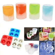 2019 4 cup ice cube shot shape silicone shooters glass freeze molds maker tray party bar tools ice shot glass mold from qwonly 1 65 dhgate com