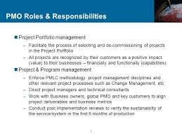 7 pmo roles responsibilities pmo responsibilities