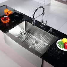 kraus khf200 33 inch farmhouse single bowl stainless steel kitchen sink with commercial style kitchen faucet