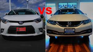2015 Honda Civic VS 2015 Toyota Corolla - YouTube