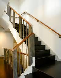 Wooden handrails.