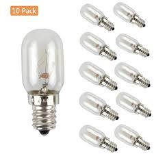 Ebd Lighting E12 Refrigerator Light Bulbs 10 Pack 10w 120v Dimmable Microwave Oven Bulb Appliance Lamp Salt Crystal Lamp 2700k Warm White For Night