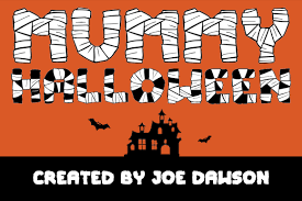 Butcherman free font is a zombified display font, hacked and chopped and … Mummy Halloween Font By Joe Dawson Creative Fabrica