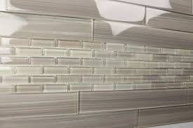 Light Gray X Hand Painted Subway Glass Tile Kitchen For - Glass tile bathrooms
