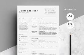 Minimalist Resume Resume Templates Creative Market