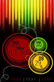 Red Green Yellow Ombre Sleek Club Rasta Event Business Flyer