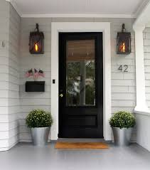 black glass front door black front door for simple and attracting s