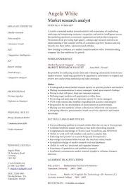 Market Researcher Sample Resume Market research analyst CV sample 2