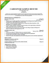 Caregiver Sample Resume Babysitting biography example resume samples for caregiver 100 32