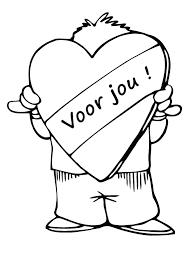 Kleurplaat Valentijn Liefde 3271